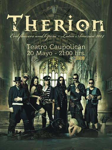 Therion regresa a Chile en mayo